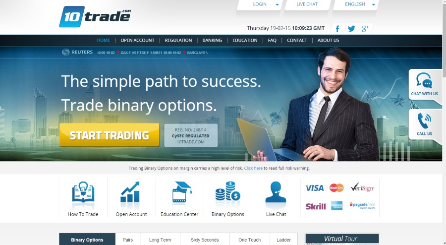 10trade binary broker review welcome
