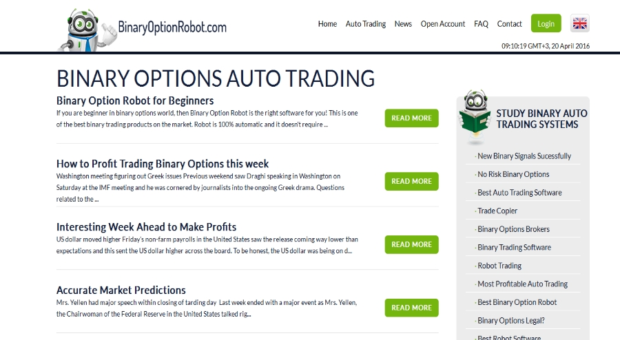 Best binary options trading robot review