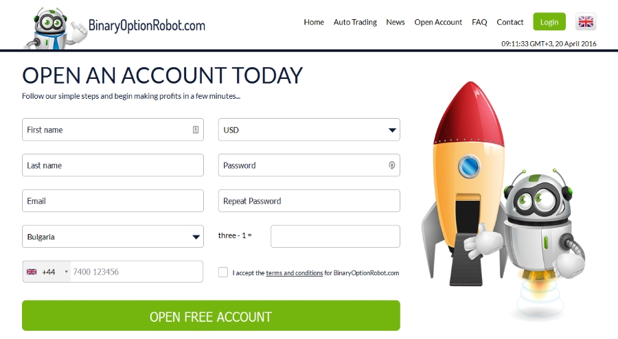 binaryoptionrobot easy free registration