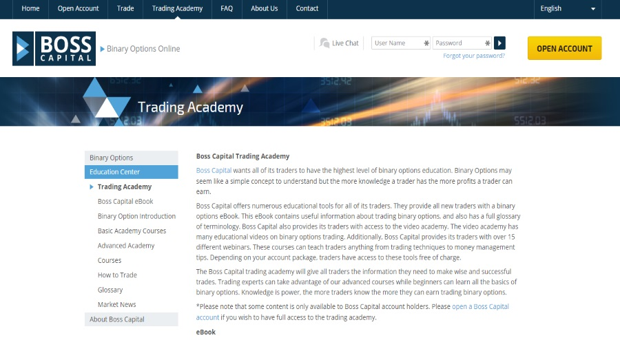 Boss capital trading academy
