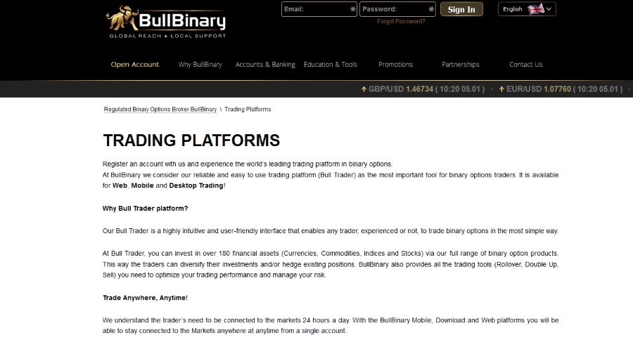 multi platform trading at bullbinary