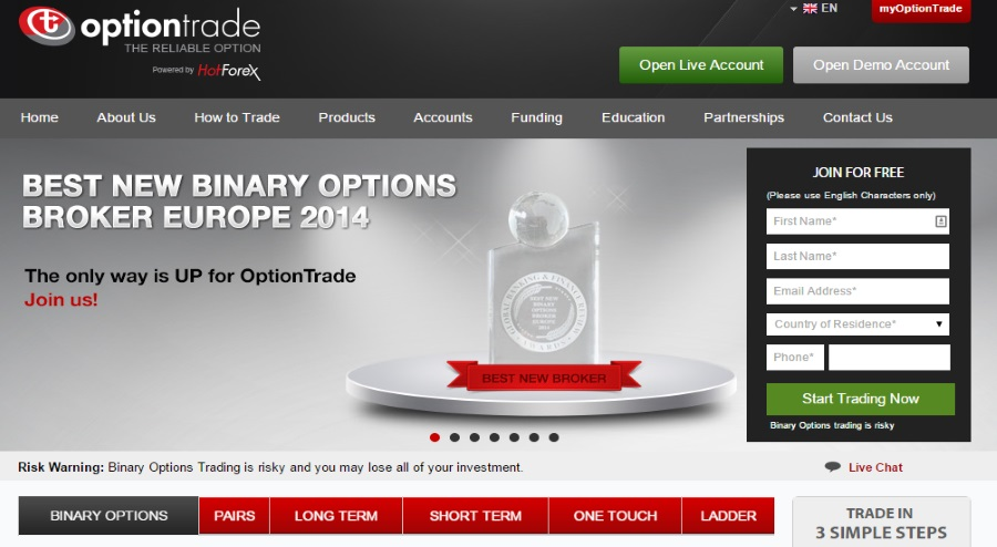 Optiontrade welcome home