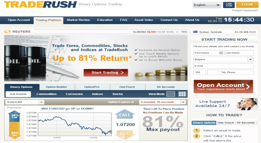 Binary options trade rush